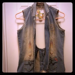 Luxirie Denim Woman's Vest